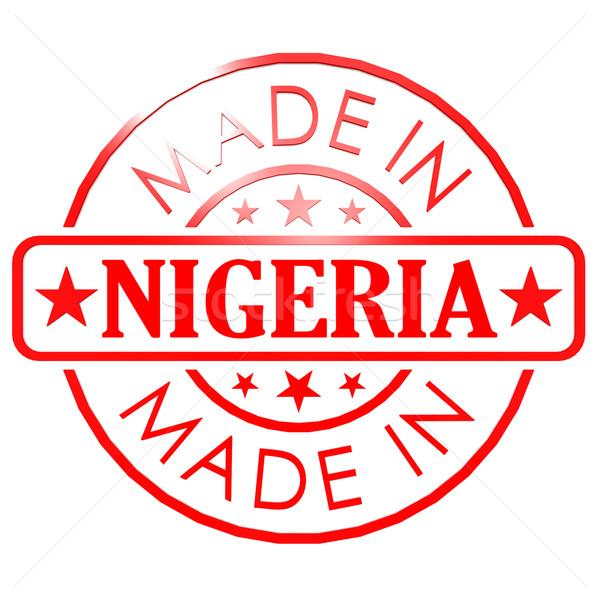 Nijerya kırmızı mühürlemek görüntü render Stok fotoğraf © tang90246