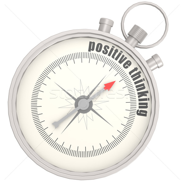 Positive thinking compass Stock photo © tang90246