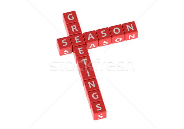 Buzzwords seasion greetings Stock photo © tang90246