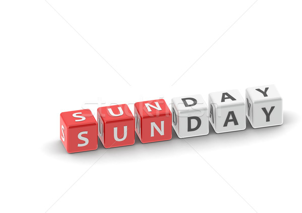 Sunday puzzle word Stock photo © tang90246
