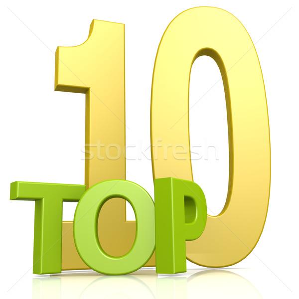 Top 10 word Stock photo © tang90246
