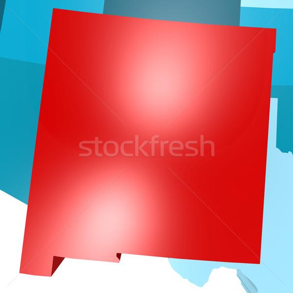 Nowy Meksyk Pokaż niebieski USA obraz świadczonych Zdjęcia stock © tang90246
