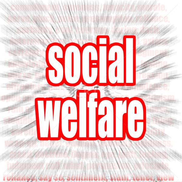 Social welfare word cloud Stock photo © tang90246