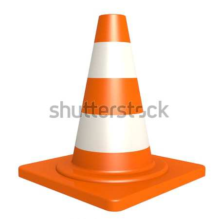 Traffic cone isolated with white background  Stock photo © tang90246