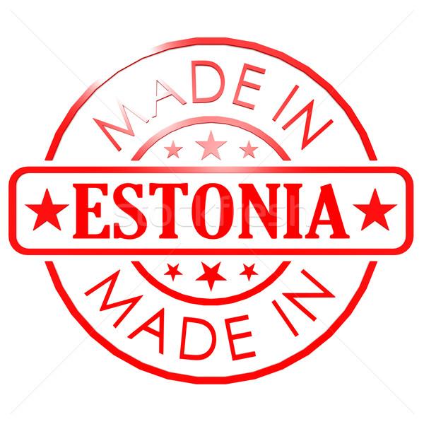 Estland Rood zegel afbeelding gerenderd Stockfoto © tang90246