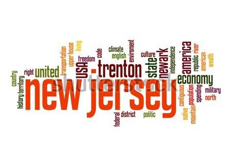 New Jersey word cloud Stock photo © tang90246