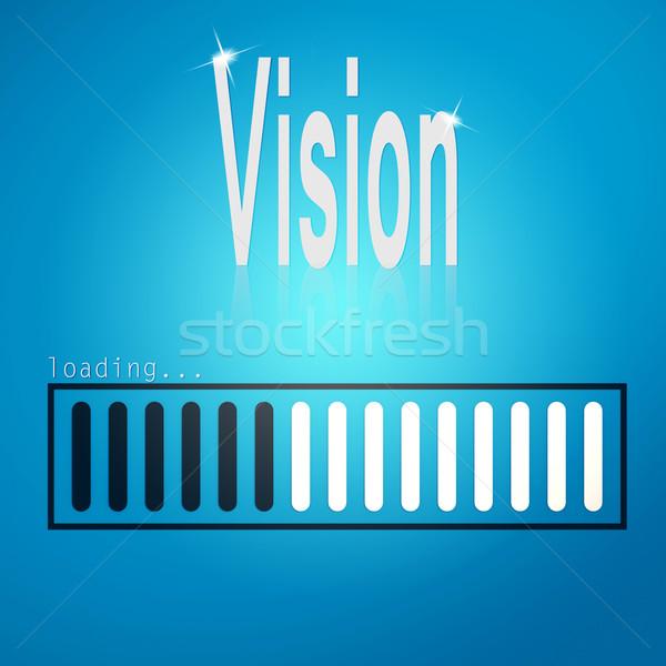 Vision blue loading bar Stock photo © tang90246
