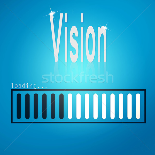 Stock photo: Vision blue loading bar