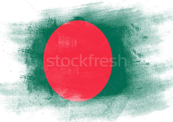 Bayrak Bangladeş boyalı fırçalamak katı soyut Stok fotoğraf © tang90246