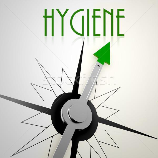 гигиена зеленый компас оздоровительный роста Сток-фото © tang90246
