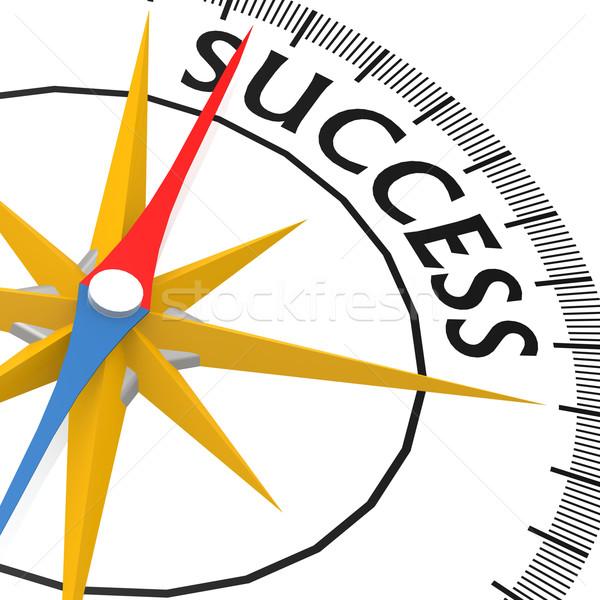 компас успех слово концепция направлении решения Сток-фото © tang90246