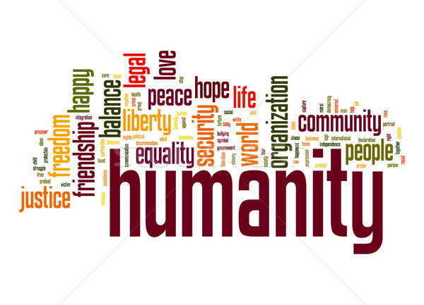 Humanity word cloud Stock photo © tang90246