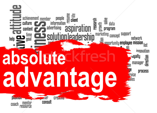 Absolute advantage word cloud with red banner Stock photo © tang90246