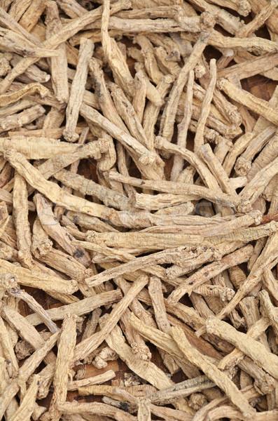 высушите женьшень корней рынке продовольствие Сток-фото © tang90246