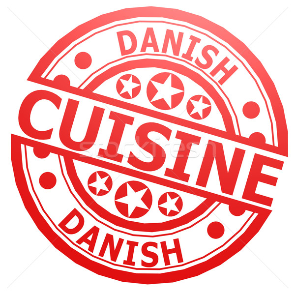 Danish cuisine stamp Stock photo © tang90246
