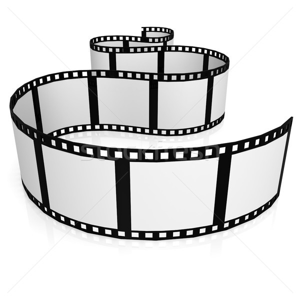 Geïsoleerd filmstrip film digitale foto tape Stockfoto © tang90246