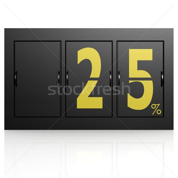 Airport display board 25 percent Stock photo © tang90246