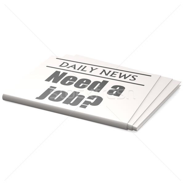 Gazete gerek iş Stok fotoğraf © tang90246