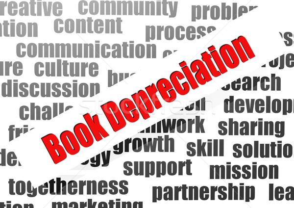 Book depreciation word cloud Stock photo © tang90246