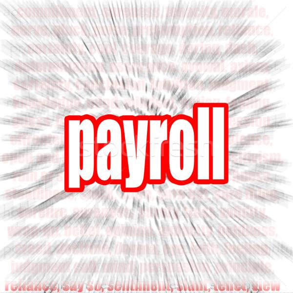 Payroll word cloud Stock photo © tang90246