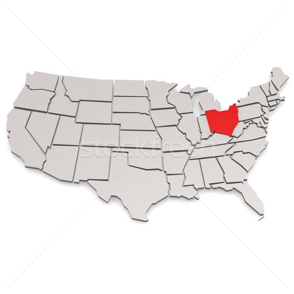 Ohio kép renderelt mű használt grafikai tervezés Stock fotó © tang90246