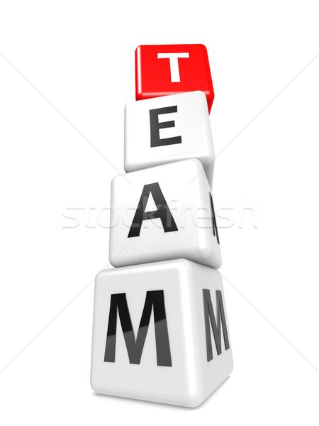 Divatszó csapat kép renderelt mű használt Stock fotó © tang90246