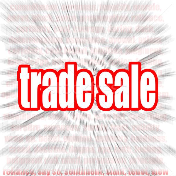 Handel Verkauf Wort-Wolke Bild gerendert Kunstwerk Stock foto © tang90246
