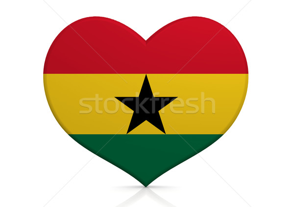 Гана сердце фон путешествия стране концепция Сток-фото © tang90246