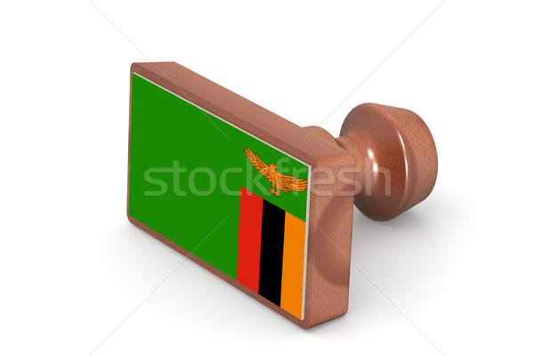 штампа Замбия флаг изображение оказанный Сток-фото © tang90246