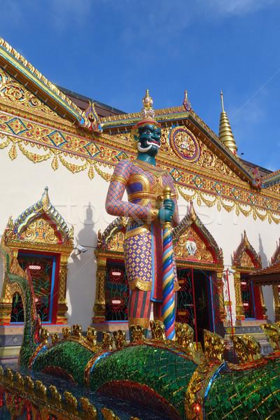 Thai tempel eiland sculptuur bidden god Stockfoto © tang90246