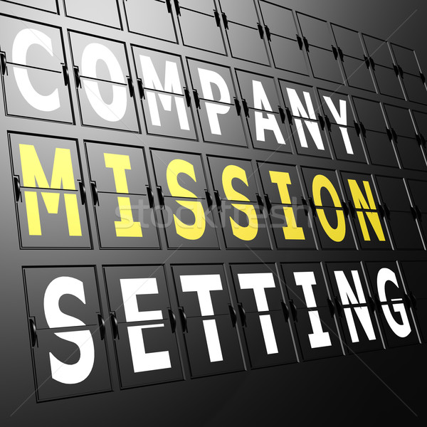 Airport display company mission setting Stock photo © tang90246