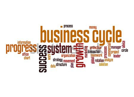 Business cycle word cloud Stock photo © tang90246