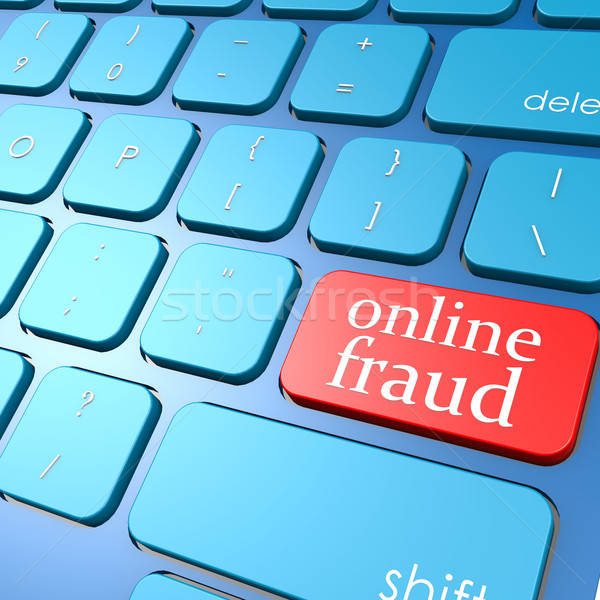 Online fraud keyboard Stock photo © tang90246