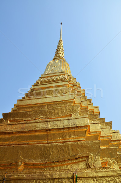 Golden pagoda in Grand Palace, Bangkok Stock photo © tang90246