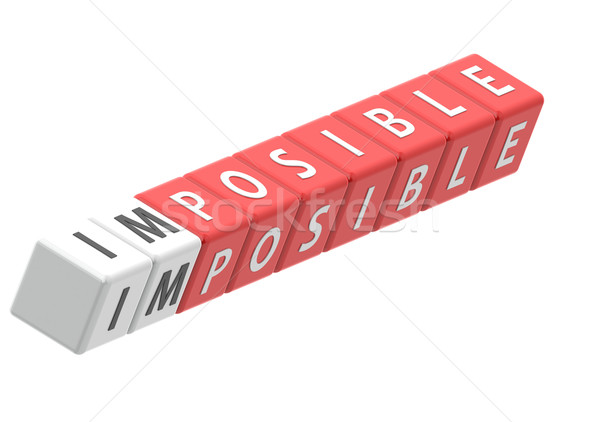 Buzzwords impossible Stock photo © tang90246