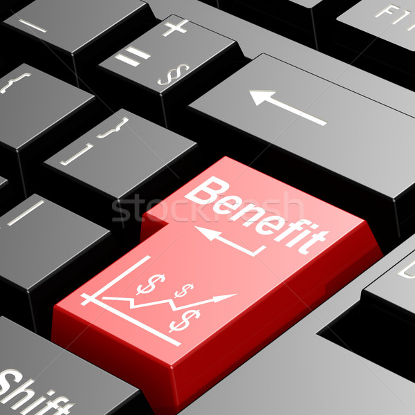 Benefit word on red keyboard Stock photo © tang90246