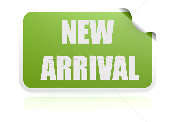 New arrival green sticker Stock photo © tang90246