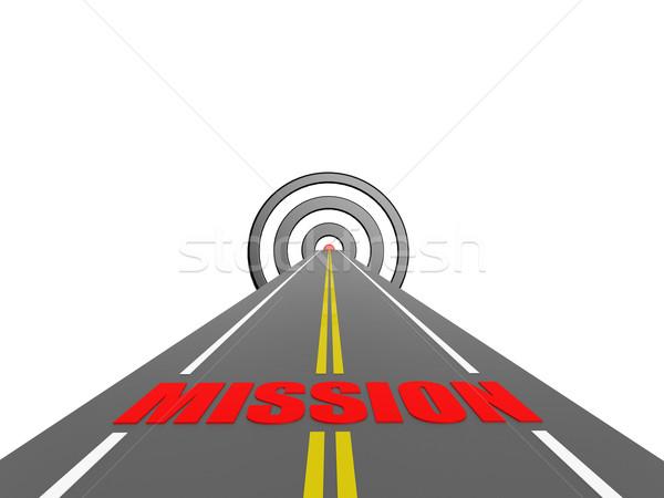 Carretera misión nubes fondo verano signo Foto stock © tang90246