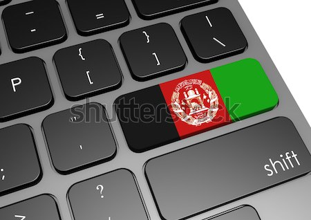 Tablet with Afghanistan flag Stock photo © tang90246