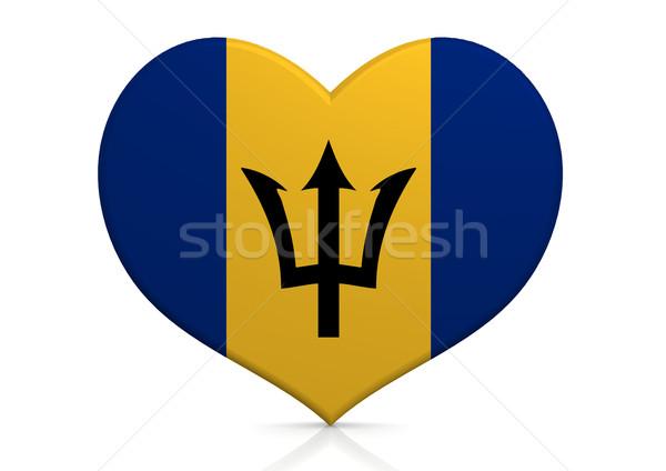 Barbados coração fundo viajar país conceito Foto stock © tang90246