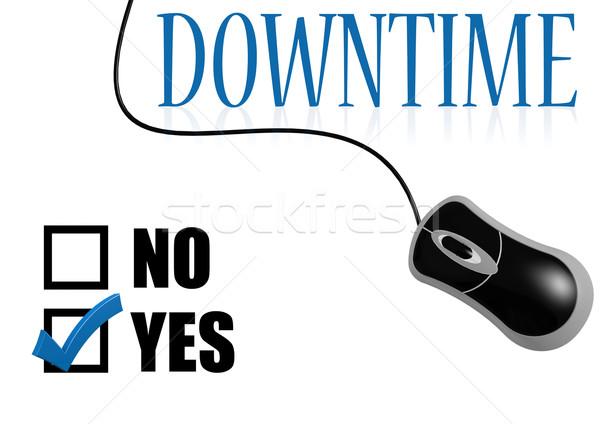 Downtime check mark Stock photo © tang90246