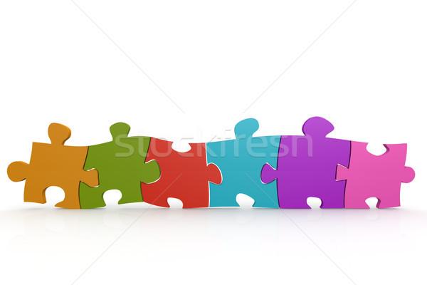 Kolorowy puzzle obraz świadczonych używany Zdjęcia stock © tang90246