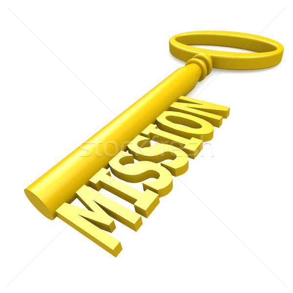 Sleutel missie target plan idee concept Stockfoto © tang90246