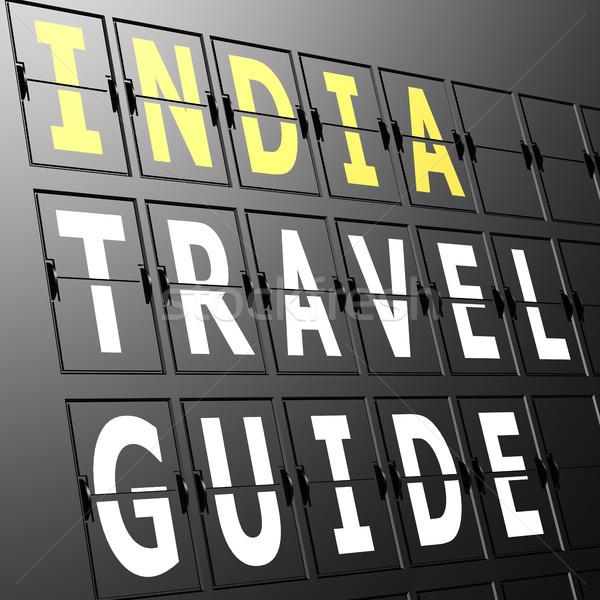 Airport display India travel guide Stock photo © tang90246