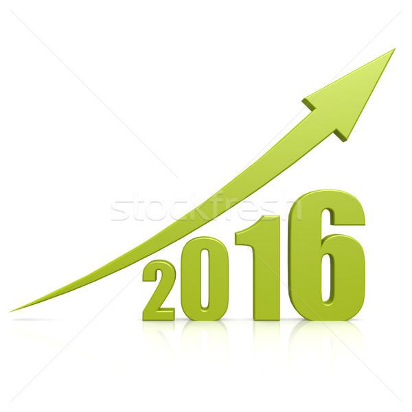 2016 growth green arrow Stock photo © tang90246