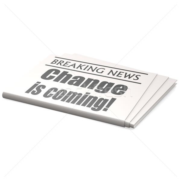 Photo stock: Journal · changement · affaires · nouvelles · communication · presse