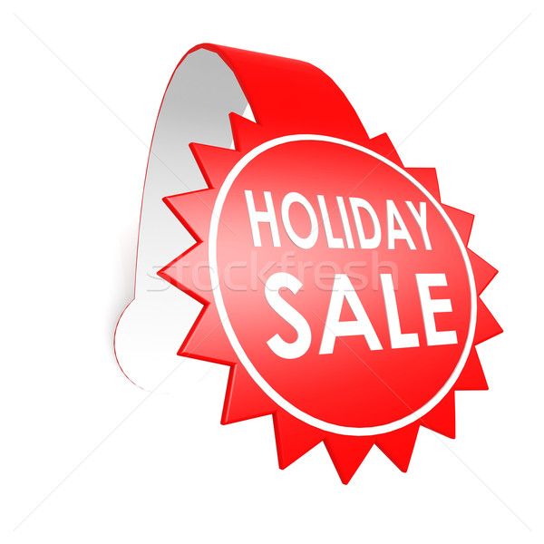 Holiday sale star label Stock photo © tang90246