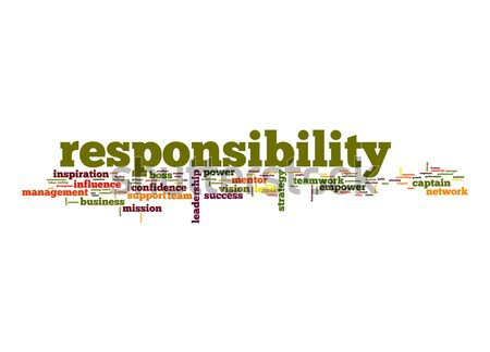 Responsibility word cloud Stock photo © tang90246