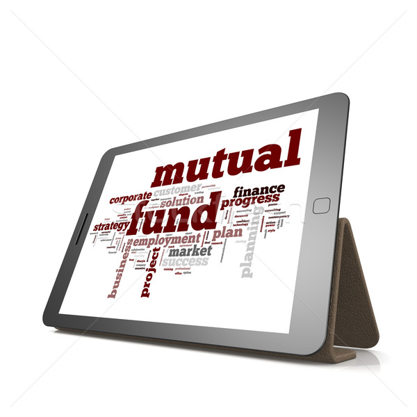 Mutual fund word cloud on tablet Stock photo © tang90246