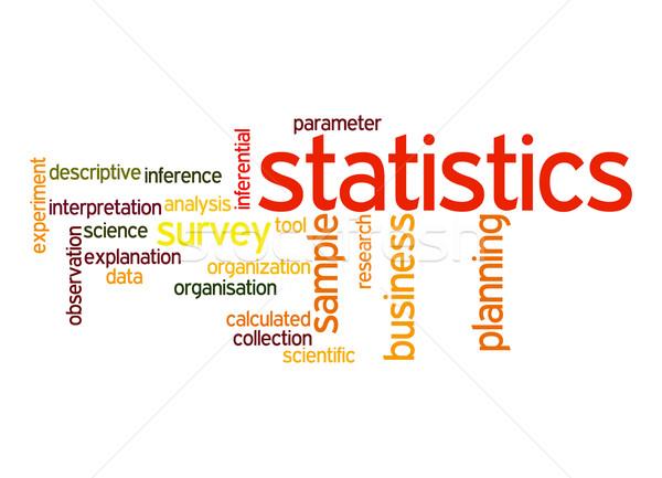 Statistics word cloud Stock photo © tang90246